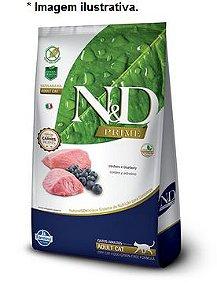 Ração Farmina N&D Prime Grain Free Cordeiro e Blueberry para Gatos Adultos 1,5kg