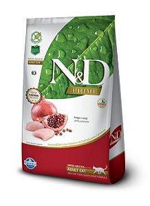 Ração Farmina N&D Grain Free Prime Frango e Romã para Gatos Adultos 1,5kg