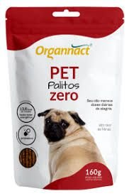 Pet Palitos Zero Sachê 160g - Organnact