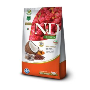 Ração Farmina N&D Quinoa Skin & Coat Peixe para Gatos Adultos 1,5kg