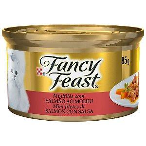 Ração Úmida Nestlé Purina Fancy Feast Salmão ao Molho para Gatos Adultos - 85g   *Imagem Meramente Ilustrativa*