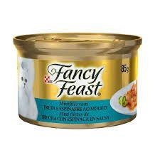 Ração Úmida Nestlé Purina Fancy Feast Truta e Espinafre ao Molho para Gatos Adultos - 85g   *Imagem Meramente Ilustrativa*