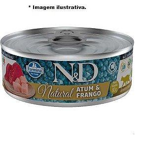 Ração Farmina N&D Úmida de Atum e Frango para Gatos - 80g