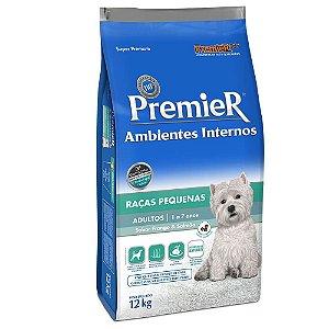 Ração Premier Pet Ambientes Internos Cães Adultos Frango e Salmão 12kg