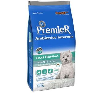 Ração Premier Pet Ambientes Internos Cães Adultos Frango e Salmão 7,5kg
