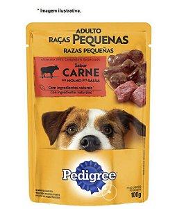 Ração Úmida Pedigree Sachê para Cães Adultos de Raças Pequenas Carne ao Molho - 100g