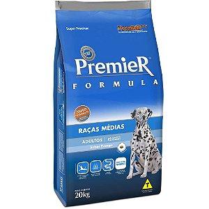 Ração Premier Pet Formula Cães Adultos Frango e Arroz Raças Médias 20kg
