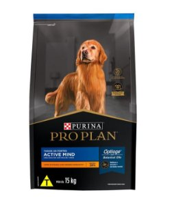Ração Super Premium Purina Pro Plan Active Mind para Cães Idoso de todos os tamanhos 15kg