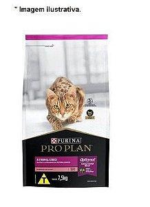 Ração Nestlé Purina Pro Plan para Gatos Adultos Sterilized todas as raças 7,5kg
