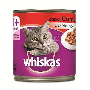 Ração Úmida Whiskas Lata Carne ao Molho - 290g                            *Imagem Meramente Ilustrativa*