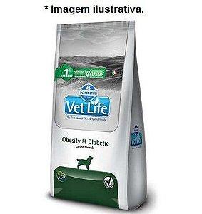 Ração Farmina Vet Life Natural Obesity & Diabetic para Cães Adultos 10,1kg
