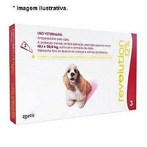 Antipulgas e Carrapatos Zoetis Revolution 12% para Cães de 10 a 20 Kg - 120 mg 3 unidades