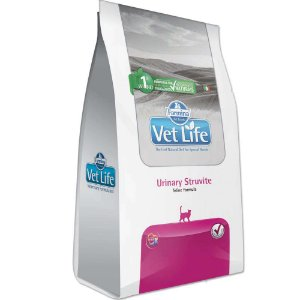 Ração Farmina Vet Life Natural Urinary Struvite para Gatos - 2kg