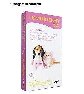 Antipulgas e Carrapatos Zoetis Revolution 6% para Cães e Gatos até 2,5 kg - 15 mg 1 unidade