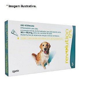 Antipulgas e Carrapatos Zoetis Revolution 12% para Cães de 20 a 40 kg - 240 mg 3 unidade