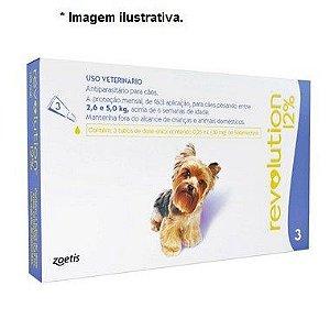 Antipulgas e Carrapatos Zoetis Revolution 12% para Cães de 2,5 a 5 kg - 30 mg 3 unidade
