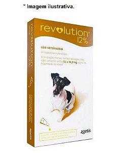 Antipulgas e Carrapatos Zoetis Revolution 12% para Cães de 5 a 10 Kg - 60 mg 1 unidade