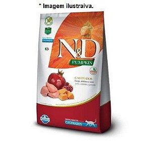 Ração Farmina N&D Pumpkin Frango, Abóbora e Romã para Gatos Adultos Castrados 1,5kg