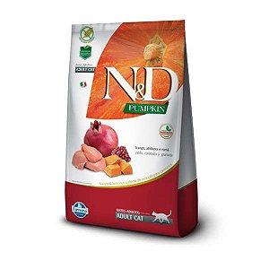 Ração Farmina N&D Pumpkin Frango, Abóbora e Romã para Gatos Adultos 1,5kg