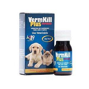 VermKill Plus Suspensão 20ml Cães/Gatos