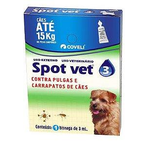 Antipulgas Coveli Spot Vet 3 para Cães até 15 Kg 3 mL 1 Bisnaga