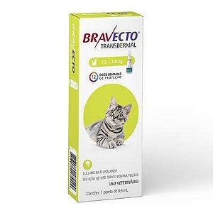 Antipulgas e Carrapatos MSD Bravecto Transdermal para Gatos 112,5mg de 1,2 a 2,8 Kg