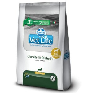 Ração Farmina Vet Life Natural Obesity e Diabetic para Cães Mini 10,1kg