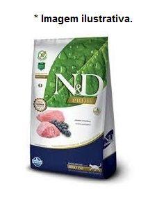Ração Farmina N&D Prime para Gatos Adultos Sabor Cordeiro e Blueberry 7,5kg