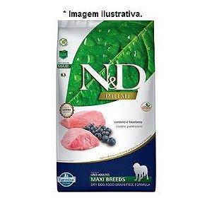 Ração N&D Prime para Cães Adultos de Raças Grandes Sabor Cordeiro e Blueberry Maxi 10,1kg