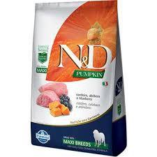 Ração N&D Pumpkin para Cães Adultos de Raças Grandes sabor Cordeiro  (Maxi)10,1kg