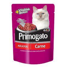 Ração úmida Premium Primogato Sachê Carne 85g