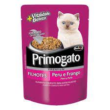 Ração Ùmida Premium Primogato Sachê Filhotes Peru 85g
