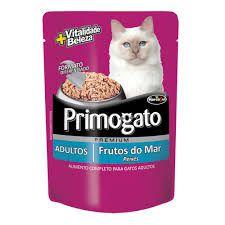 Ração úmida Premium Primogato Sachê Frutos do Mar 85g