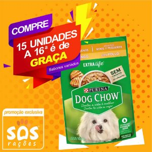 Ração úmida Premium Dog Chow Sachê Frango e Arroz Adulto Raças Mini e Pequenas 100g
