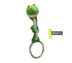 Brinquedo Sapo de pelúcia c/ argola c/ som - aprox.46cm