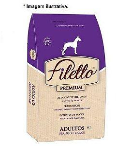 Ração Filetto Premium Frango e Carne Mini Bits 15kg Raças Pequenas