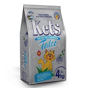 Granulado Sanitário Kets Perfumado Talco 4kg