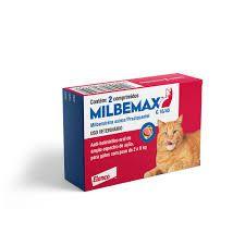 Vermifugo Elanco Milbemax  para Gatos de 2 Kg a 8 Kg (02 comprimidos)