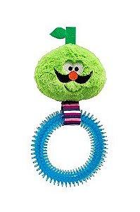 Brinquedo Pelúcia Sr. Bigode com Mordedor de Borracha - Aprox.27cm