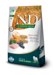 Ração Farmina N&D Canine Ancestral Grain Selection Carnes Ad Maxi e Giant 15kg