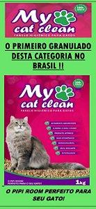 Farelo Higiênico para Gatos My Cat Clean 1kg (Granulado sanitária)
