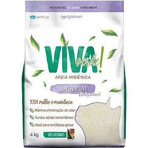 Areia Viva Verde! Bio Limpeza Plena (FINA ROXA) 4kg