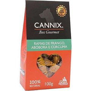 Petisco Pets du Monde Cannix Box Gourmet Mini Ramas de Frango, Abóbora e Cúrcuma
