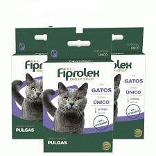 Antipulgas Ceva Fiprolex Drop Spot para Gatos de 0,5 mL 3 unidade -combo