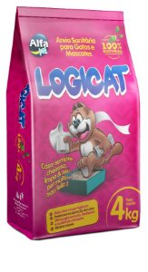 Granulado Sanitário Alfa Pet Logicat 4kg (100%natural)