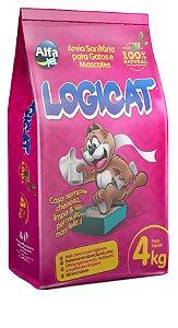 Granulado Sanitário Alfa Pet Logicat 4kg (100%natural)