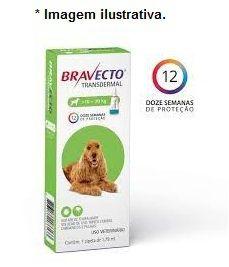Antipulgas e Carrapatos MSD Bravecto Transdermal 500mg Cães 10 a 20kg  - Pipeta