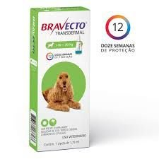 Antipulgas e Carrapatos MSD Bravecto Transdermal 500mg Cães 10 a 20kg  - pipeta