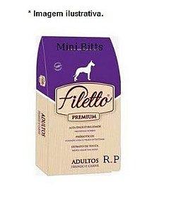 Ração Filetto Premium Frango e Carne Mini Bits 25kg Raças Pequenas