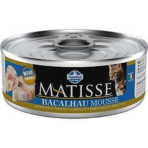 Ração Úmida Farmina Matisse Bacalhau Mousse para Gatos Adultos 85gr
